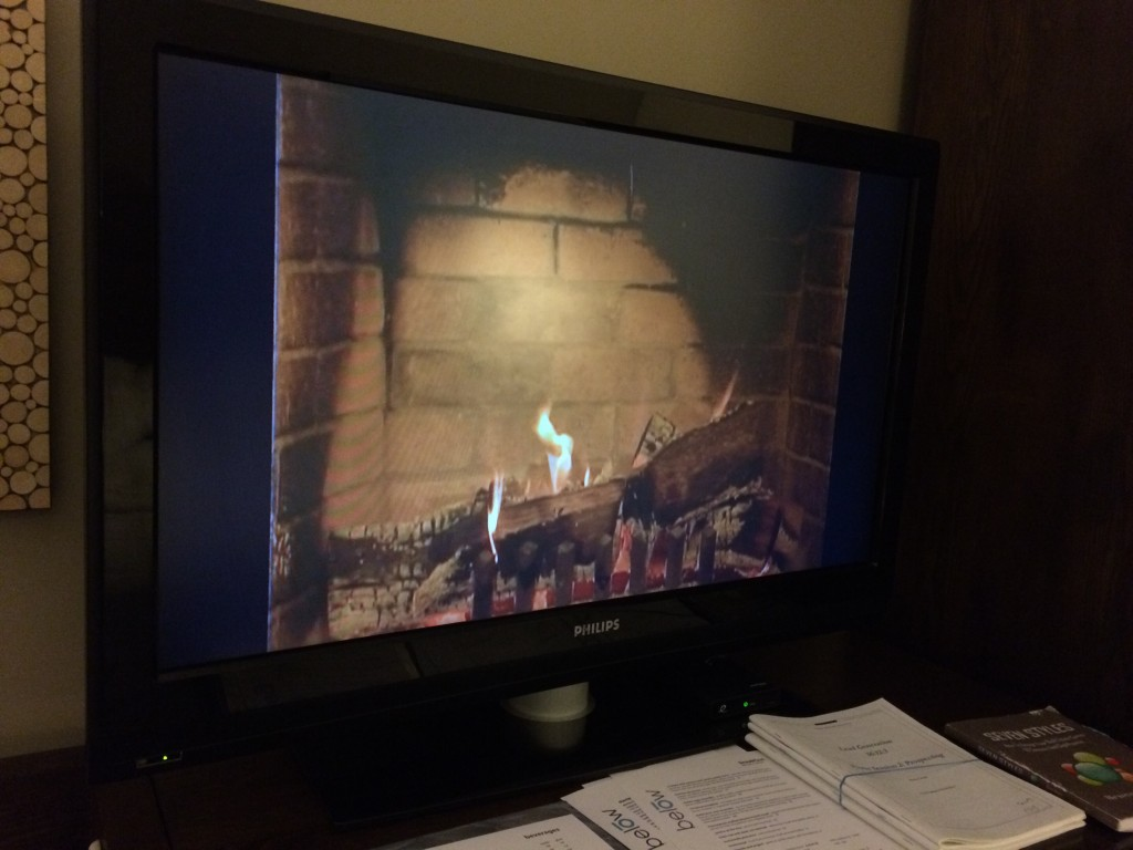 The fireplace channel at my hotel isn't in high def.